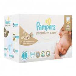 Maxi Pack de 297 Couches Pampers Premium Care de taille 1 sur 123 Couches