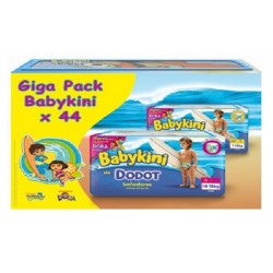 Pack économique de 44 Couches de bains Dodot de la gamme Baby Kini de taille 5 sur 123 Couches