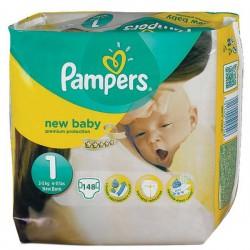 Pack 148 Couches de la marque Pampers New Baby de taille 1 sur 123 Couches