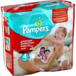 Pack d'une quantité de 224 Couches Pampers Easy Up de taille 4 sur 123 Couches
