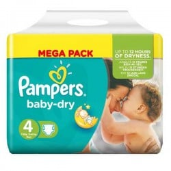 Pack 44 Couches Pampers Baby Dry taille 4