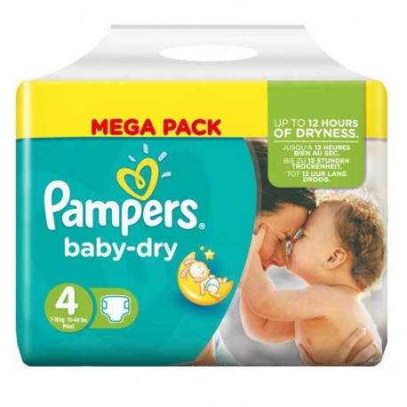 Couches pampers baby dry taille 4 pas cher 44 couches sur 123couches - Couche pampers baby dry taille 4 ...
