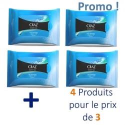 Maxi Pack 80 Lingettes démaquillantes Olaz Essentiels - 4 Pack de 20 sur 123 Couches