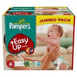Maxi Pack d'une quantité de 220 Couches de Pampers Easy Up taille 4 sur 123 Couches