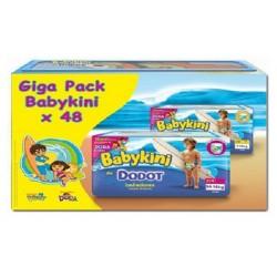 Pack d'une quantité de 48 Couches de bains Dodot de la gamme Baby Kini de taille 3