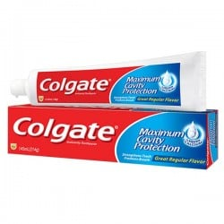 Tube Dentifrice Colgate Cavity Protection sur 123 Couches
