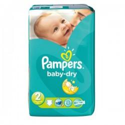 Pack d'une quantité de 72 Couches de la marque Pampers New Baby Dry taille 2 sur 123 Couches