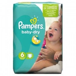 Pack de 31 Couches Pampers Baby Dry de taille 6 sur 123 Couches