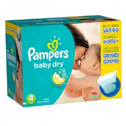 Pack 264 Couches de Pampers Baby Dry taille 4