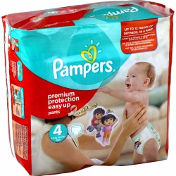 Pack de 90 Couches de Pampers Easy Up de taille 4 sur 123 Couches