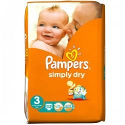 Pack 32 Couches de la marque Pampers Simply Dry de taille 5 sur 123 Couches