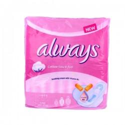 Pack de 8 Serviettes hygiéniques Always de la gamme Ultra Thin Coton taille Long sur 123 Couches