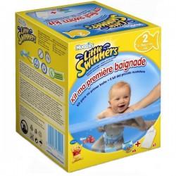 Pack d'une quantité de 6 Couches de bains Huggies Mini taille 2