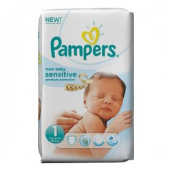 Pack de 23 Couches Pampers New Baby Sensitive taille 1 sur 123 Couches