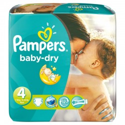 Maxi Pack 300 Couches Pampers de la gamme Baby Dry taille 4+ sur 123 Couches