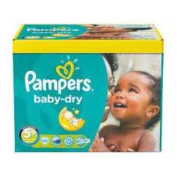 Maxi Pack 245 Couches Pampers de la gamme Baby Dry taille 5+
