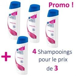 Pack économique 4 Shampooings Head & Shoulders de la gamme Antipelliculaire Lisse et Soyeux - 4 au prix de 3 sur 123 Couches