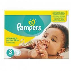 Pack 74 Couches Pampers de la gamme New Baby de taille 3 sur 123 Couches