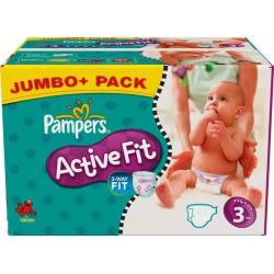 Pack économique 336 Couches Pampers de la gamme Active Fit taille 3 sur 123 Couches