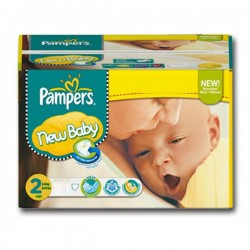 Maxi Pack 264 Couches Pampers New Baby de taille 2 sur 123 Couches