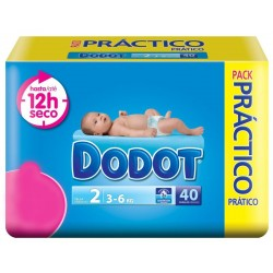 Pack 40 Couches Dodot de la gamme 3D de taille 2 sur 123 Couches