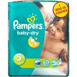 Pack 41 Couches Pampers Baby Dry taille 5 sur 123 Couches