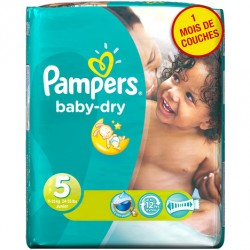 Pack de 41 Couches Pampers de la gamme Baby Dry taille 5