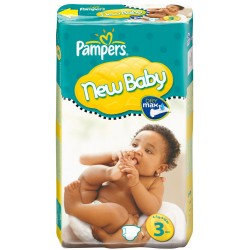 Pack 50 Couches Pampers New Baby taille 3 sur 123 Couches