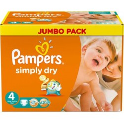 Pack économique 240 Couches Pampers Simply Dry taille 4 sur 123 Couches