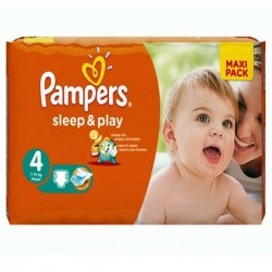 Pack 86 Couches Pampers Sleep & Play taille 4 sur 123 Couches