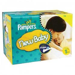 Pack économique 150 Couches Pampers de la gamme New Baby taille 1 sur 123 Couches