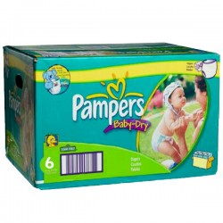 Pack 198 Couches Pampers de la gamme Baby Dry de taille 6