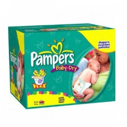 Maxi Pack 252 Couches de la marque Pampers Baby Dry taille 2