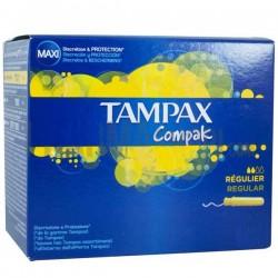 Pack d'une quantité de 80 Tampons de la marque Tampax Compak de taille regular avec applicateureur sur 123 Couches