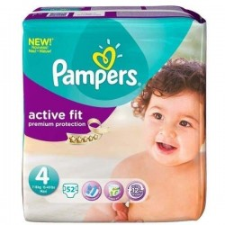 Pack 52 Couches Pampers Active Fit taille 4 sur 123 Couches