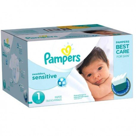 Maxi Pack de 230 Couches Pampers New Baby Sensitive taille 1 sur 123 Couches