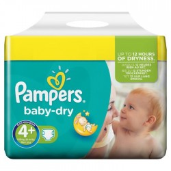 Maxi Pack 320 Couches Pampers Baby Dry taille 4+ sur 123 Couches