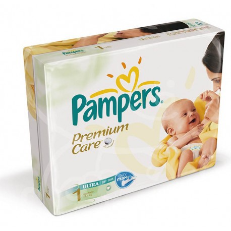 Pack 22 Couches Pampers Premium Care taille 1 sur 123 Couches