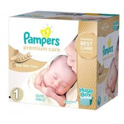 Giga Pack d'une quantité de 176 Couches de Pampers Premium Care taille 1