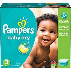 Giga Pack de 280 Couches Pampers de la gamme Baby Dry taille 3 sur 123 Couches