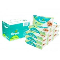 Giga Pack d'une quantité de 768 Lingettes Bébés Pampers Natural Clean sur 123 Couches