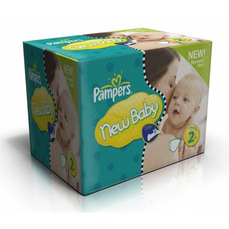 Pack économique de 504 Couches Pampers de la gamme New Baby Dry taille 2 sur 123 Couches
