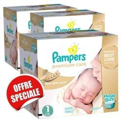 Maxi Giga Pack Jumeaux 506 Couches de la marque Pampers Premium Care de taille 1