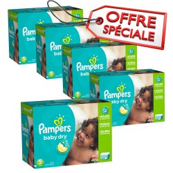Maxi giga pack jumeaux 864 Couches Pampers Baby Dry de taille 5 sur 123 Couches