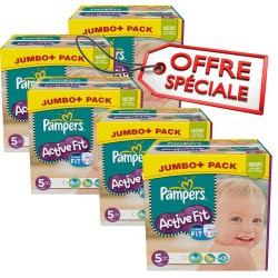 Maxi giga pack jumeaux de 736 Couches de Pampers Active Fit taille 5