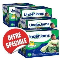 Maxi giga pack d'une quantité de 200 Sous-vêtements jetables de la marque Pampers Underjams - pour Garçons taille S/M sur 123 Couches