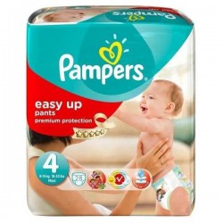 Pack 28 Couches Pampers de la gamme Easy Up de taille 4 sur 123 Couches