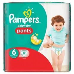 Pack 19 Couches de la marque Pampers Baby Dry Pants de taille 6 sur 123 Couches