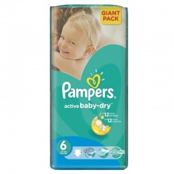 Pack 42 Couches Pampers Active Baby Dry de taille 6