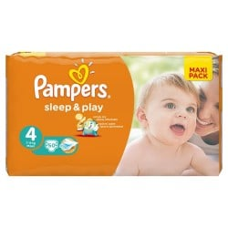 Pack 50 Couches Pampers Sleep & Play taille 4 sur 123 Couches